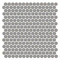 Penny Round Moss Porcelain Mosaic Tile - 12 x 12 in.