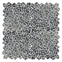 Black Pebbles (Super Small) 12 x 12 in