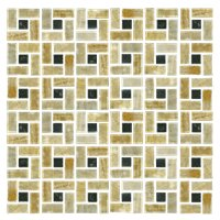 Honey Onyx Medley Skokie 12 x 12 in