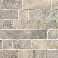 Claros Silver Broken Brick 12 x 12 in