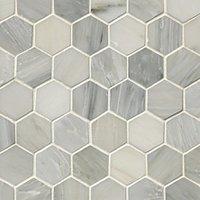 Carrara Hex 2 x 2 in