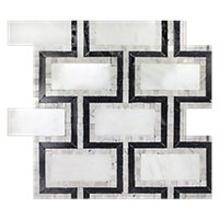 Aquila Carrara Mosaic 12 x 12 in