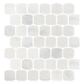 Tempesta Neve Tumbled Palatine 13 X 13 In Marble Mosaics