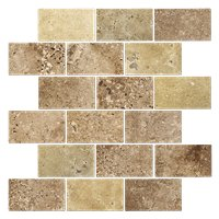Cremna Noce Brushed Filled Amalfi 12 x 12 in