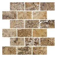 Scabos Brushed Unfilled Amalfi 12 x 12 in