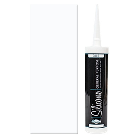 100% Clear Silicone Caulk - 10 oz