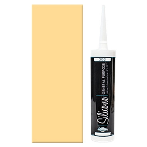 100% Almond Silicone Caulk 10 oz