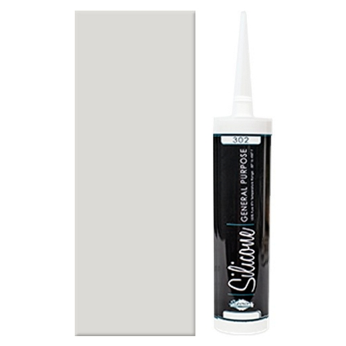 100% Grey Silicone Caulk 10 oz