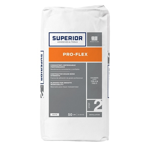Pro-Flex Latex Fortified Thinset Mortar - White 50lb.