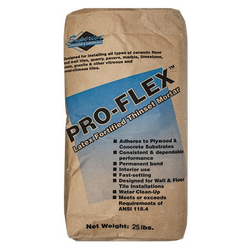 Superior Pro Flex Fortified Thinset Mortar White - 25 lb