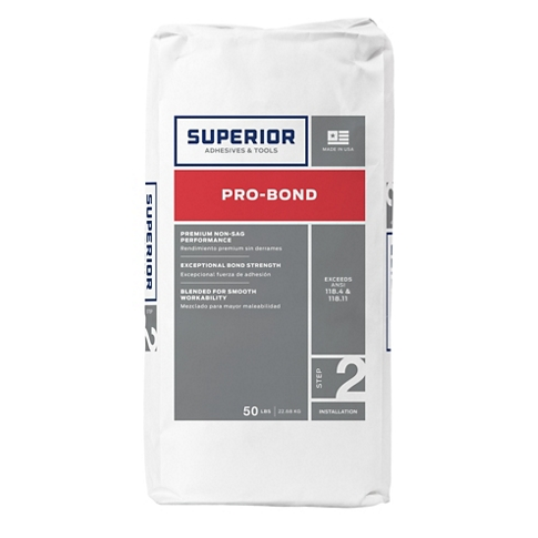 Superior Pro Bond Thinset Mortar White - 50 lb
