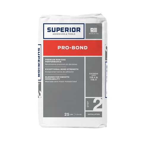 Superior Pro-Bond Thinset Mortar - White 25lb.