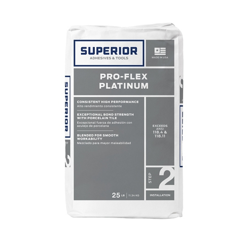 Superior Pro-Flex Platinum Thinset Mortar Grey - 25 lb