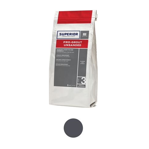 Superior Unsanded Pro-Grout Charcoal - 5 lb