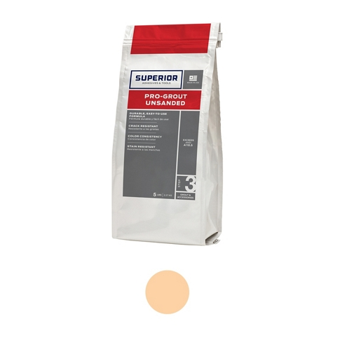 Superior Unsanded Pro-Grout Almond - 5 lb
