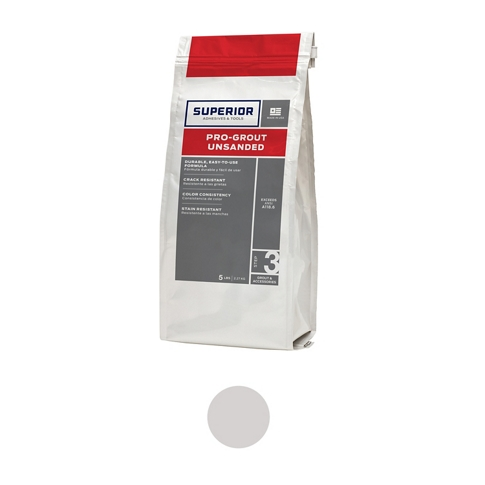 Superior Unsanded Pro-Grout Whisper Grey - 5 lb