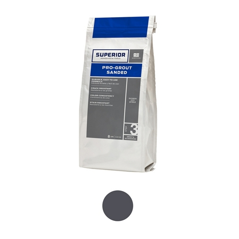 Superior Sanded Pro-Grout Charcoal - 9 lb