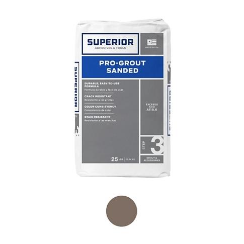 Superior Sanded Pro-Grout Mocha - 25 lb