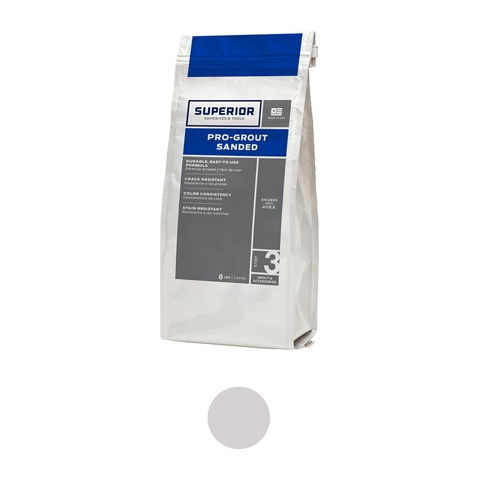Superior Sanded Pro-Grout Whisper Grey - 9 lb