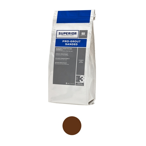 Superior Sanded Pro-Grout Tobaco - 9 lb