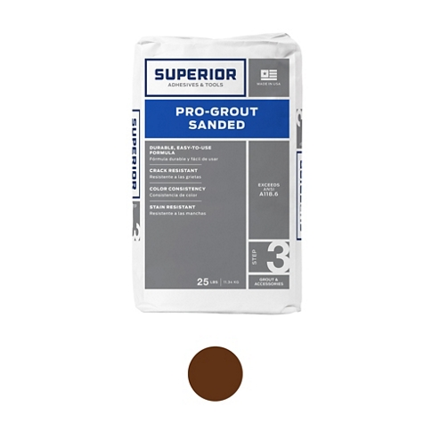 Superior Sanded Pro-Grout Tobaco - 25 lb