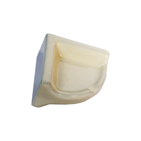 Retro Bone Corner Shelf Porcelain Tile Fixture - 2.375 x 4.75 in