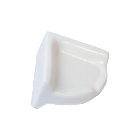 Retro Matte White Corner Shelf Porcelain Tile Fixture - 2.375 x 4.75 in