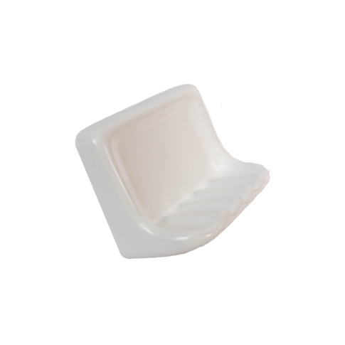 Soap Dish Matte White Porcelain Tile Fixture - 4.875 x 6.75 in