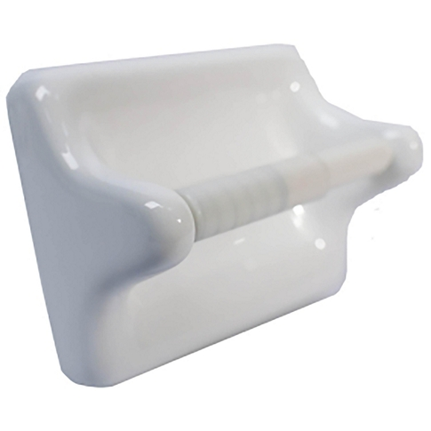 Paper Holder Ice White Porcelain Tile Fixture - 5.5 x 6.75 in