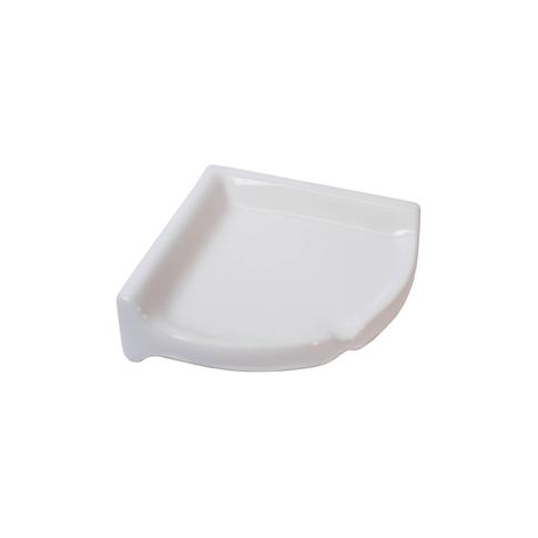Corner Shelf Ice White Porcelain Tile Fixture - 2.75 x 8.5 in
