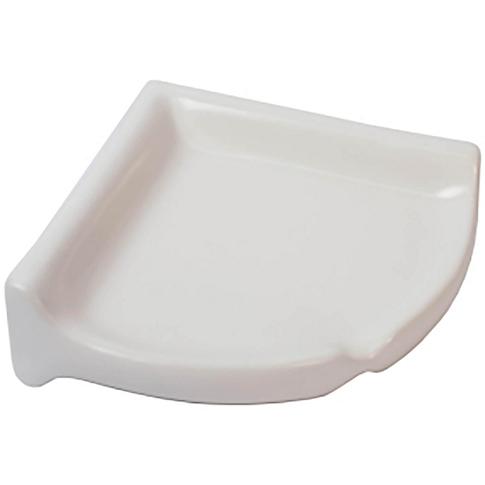 Corner Shelf Matte White Porcelain Tile Fixture - 2.75 x 8.5 in