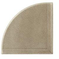 Q-Seal Dark Grey Concrete Flatback Corner Shelf