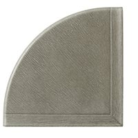 Q-Seal Taupe Grey Concrete Flatback Corner Shelf