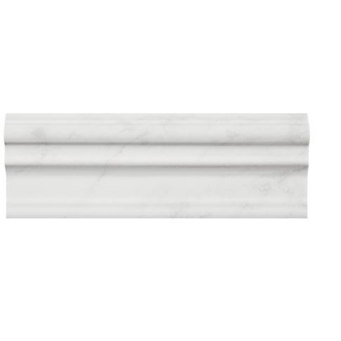 Carrara Gris Cornice Ceramic Tile Fixture 3 X 8 In The