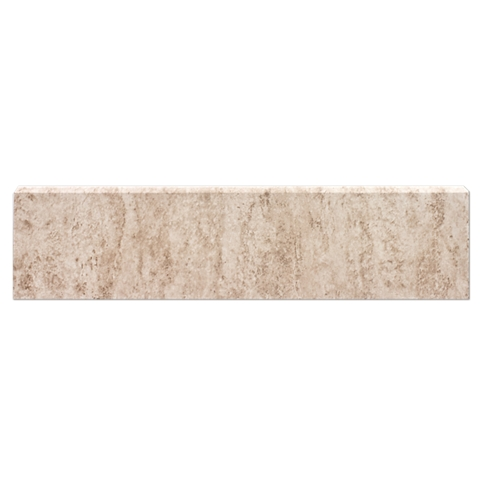 Classico Beige Matte REL Single Bullnose Long Side Ceramic Wall Tile - 4 x 16 in