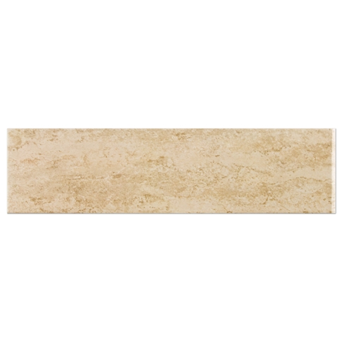 Classico Beige Matte RES Single Bullnose Short Side Ceramic Wall Tile - 4 x 16 in
