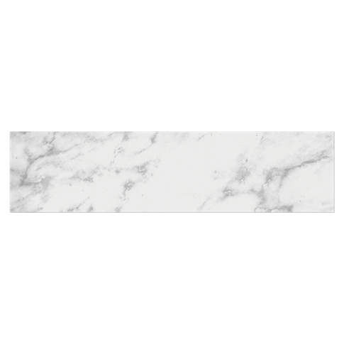 Carrara Gris Ceramic Subway Tile - 4 x 16 in.