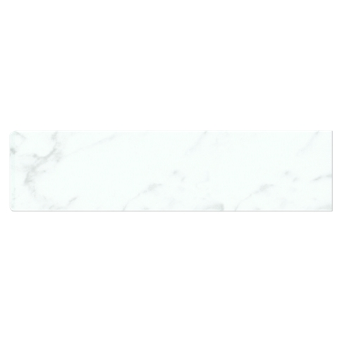 Carrara Gris RES (Single Bullnose Short Side 4 x 16 in