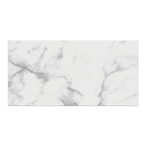 Carrara Gris Ceramic Subway Tile - 4 x 8 in.