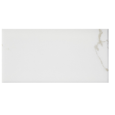 Calacutta Bianco Gloss RES (Single Bullnose Short Side) 3 x 6 in