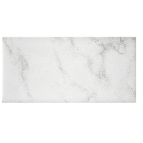 Carrara Gris Gloss Ceramic Subway Tile - 3 x 6 in.