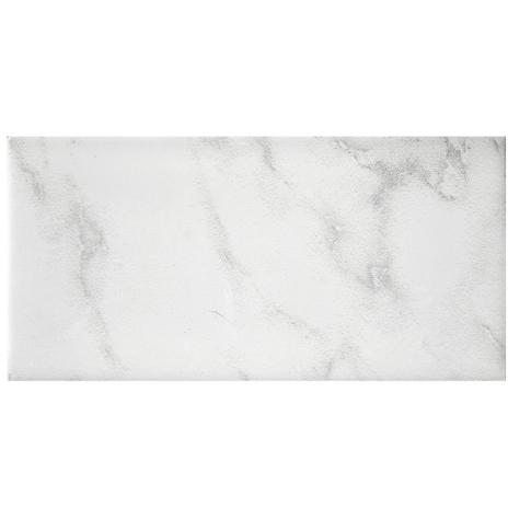Carrara Gris Gloss Ceramic Subway Wall Tile - 3 x 6 in