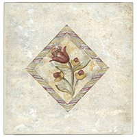 Zirconio Darwin Inserto Ceramic Wall Tile - 8 x 8 in