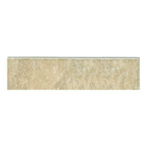 Texas Beige Bullnose Ceramic Wall Tile - 2 x 8 in