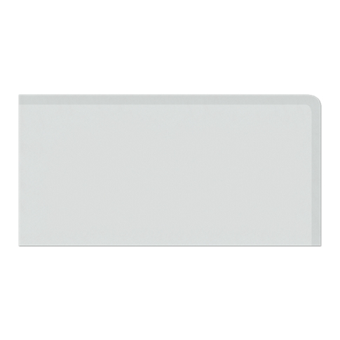 Imperial Gris Matte REXR (Double Bullnose Right Side) 4 x 8 in