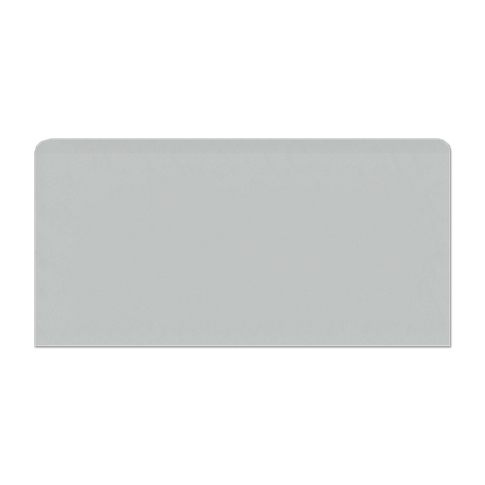 Imperial Ice Grey Gloss REL Single Bullnose Long Side Ceramic Wall Tile - 4 x 8 in