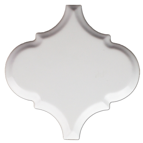 Arabesque Bianco Gloss Ceramic Wall Tile