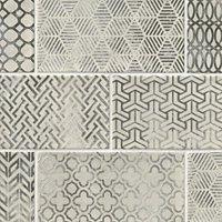 Ravena Bianco Decor Ceramic Subway Tile - 4 x 8 in