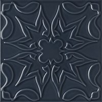 Flow 1 Smoky Blue Ceramic Wall Tile - 8 x 8 in