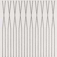 Tear 3 Prata Ceramic Wall Tile - 7 x 7 in